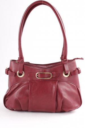 Coccinelle Frame Bag dark red street-fashion look