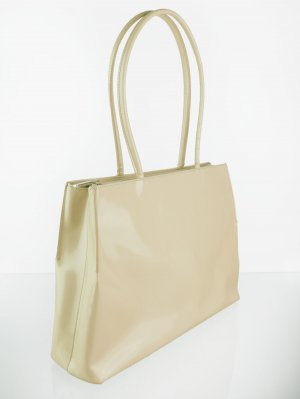 Coccinelle Echtleder Shopper in Beige