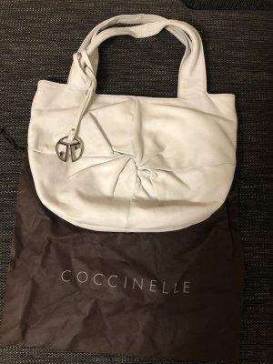 Coccinelle echtleder Tasche weiß