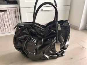 Coccinelle Goodie Bag 2010 Handtasche Anthrazit Silber