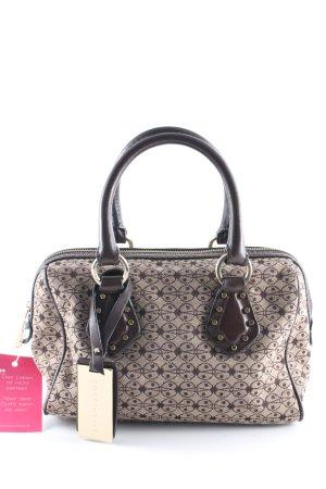Coccinelle Handbag dark brown-light brown abstract pattern elegant