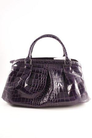 Coccinelle Handtasche dunkelviolett-lila Animalmuster Animal-Look