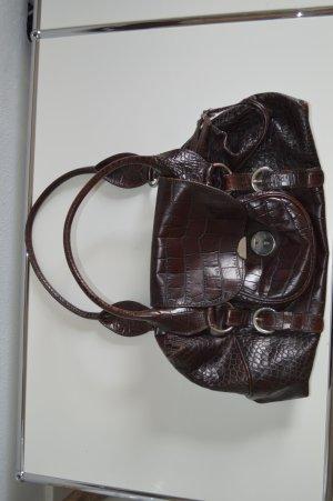 Coccinelle Handtasche Leder Animalprägung, hoher Neupreis, braun
