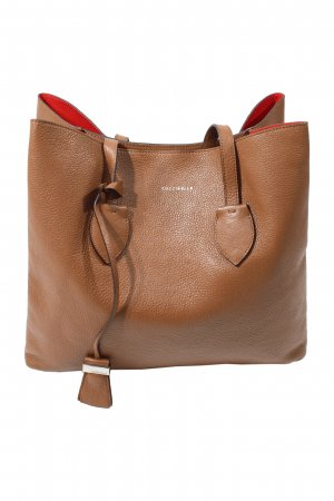 Coccinelle Tote brown-bright red leather