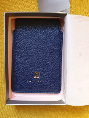 Coccinelle Mobile Phone Case dark blue leather