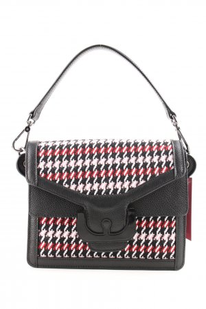 Coccinelle Carry Bag houndstooth pattern classic style