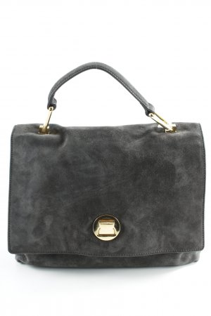 "Coccinelle Carry Bag ""Liya Suede Satchel Bag Fume/Noir"""