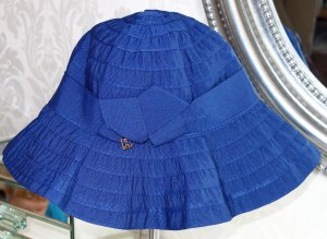 Coccinelle Sun Hat blue cotton