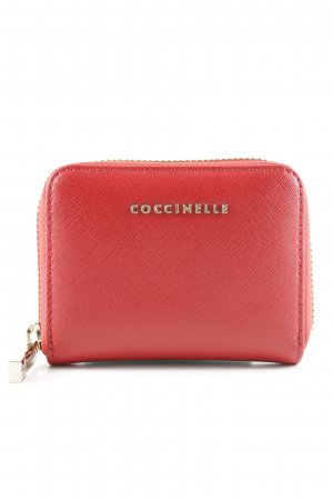 Coccinelle Card Case red weave pattern casual look