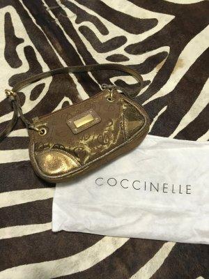 coccinelle kleine ausgeh Tasche Gold Logo