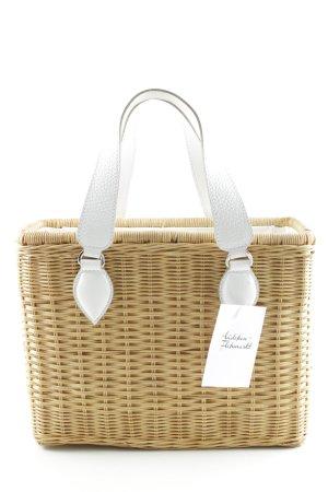 Coccinelle Borsetta a cestino bianco-marrone chiaro stile spiaggia