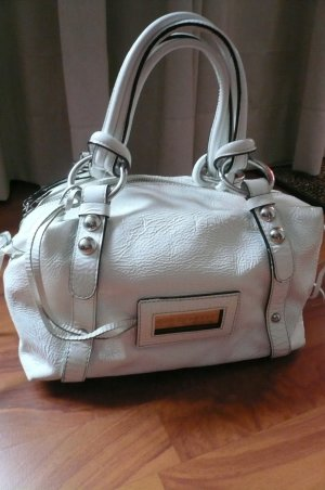 Coccinelle Carry Bag white leather