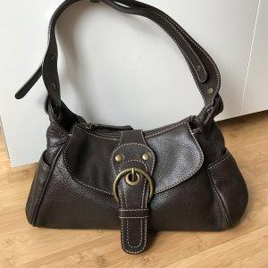 Coccinelle Leder-Handtasche, dunkelbraun