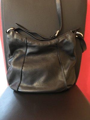 Coccinelle Leder Tasche schwarz echtes Leder Crossbody 30x35