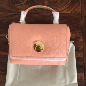 Coccinelle Mini Bag Liya Tasche Leder Apricot NEU