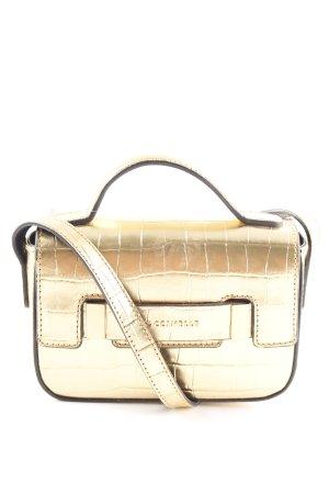 Coccinelle Mini sac doré motif animal style extravagant