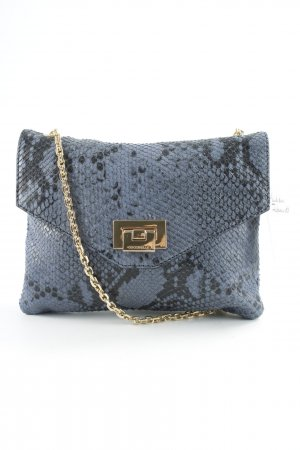 Coccinelle Mini Bag steel blue-dark blue herringbone pattern party style