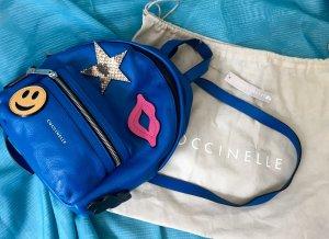 Coccinelle Rucksack Blau Aufnäher