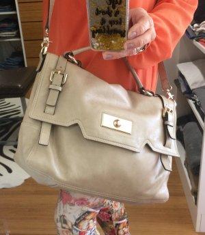 Coccinelle satchel Handtasche darling  beige taupe Staubbeutel Etikette