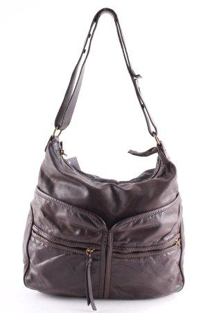 Coccinelle Shoulder Bag dark brown vintage look