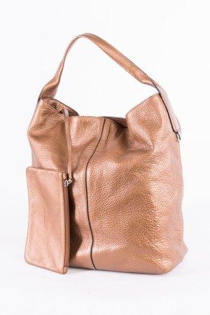 COCCINELLE - Schultertasche im Metallic-Look Bronze