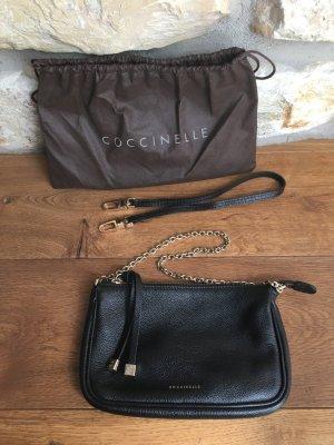 Coccinelle - Schwarze Handtasche mit goldfarbenen Details