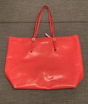 COCCINELLE Shopeer Ledertasche große Tasche aus echtem Leder Handtasche Schultertasche Rot