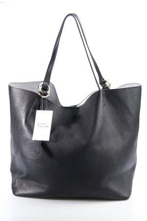 Coccinelle Shopper schwarz-silberfarben schlichter Stil