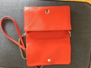 Coccinelle Clutch brick red leather