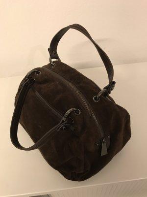 Coccinelle Tasche aus braunem Velourleder