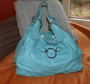 Coccinelle Frame Bag turquoise leather
