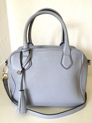 Coccinelle Tasche Neu Schultertasche Blau Grau Leder Bag Baby Blue Gold Light