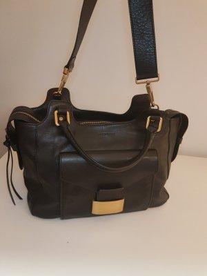 Coccinelle Tasche schwarz Leder mit Gold