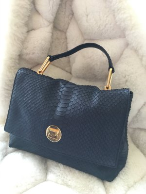 Coccinelle Carry Bag blue-dark blue leather