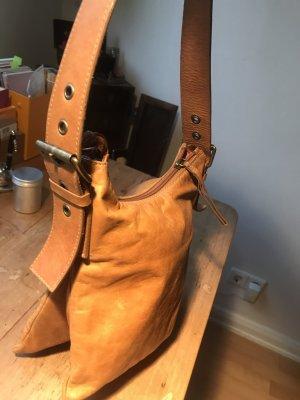 Coccinelle Traum Leder Handtasche Cognac Henkel- / Schulter Tasche