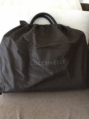Coccinelle Briefcase black-gold-colored leather