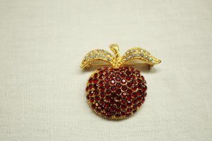 Cocktail Jewelry Brosche Apfel