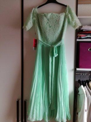 JJs House Robe de cocktail vert pâle tissu mixte