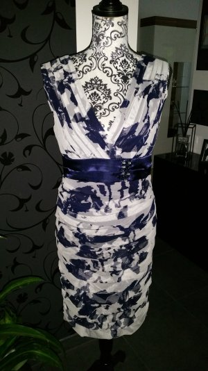 Cocktail#Kleid#blue#white#classic