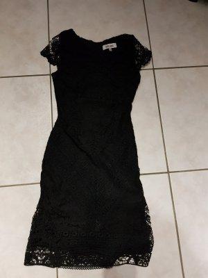 Cocktail Kleid Gr. XS schwarze Spitze