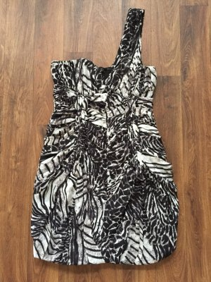 Cocktail Kleid H&M BLOGGER One Shoulder Zebra / Leo Neu Größe: 36