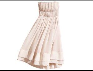 Cocktail-Kleid in Beige mit 2 Reihen Strass-Steinen (40) von H&M