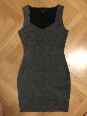 Cocktail Kleid in grau mit Glitzer