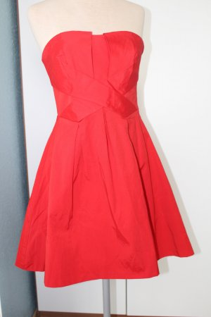 Cocktail Kleid Party Bandeaukleid Warehouse Gr 38 UK 10 S M rot retro Rockabilly
