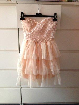 Cocktail Kleid Rosa mit Perlen NEU
