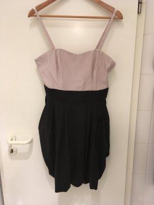 H&M Off the shoulder jurk zwart-stoffig roze