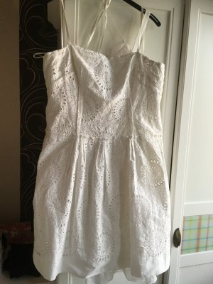Prada A Line Dress white cotton