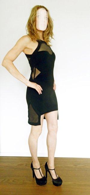 American Retro Cocktail Dress black mixture fibre