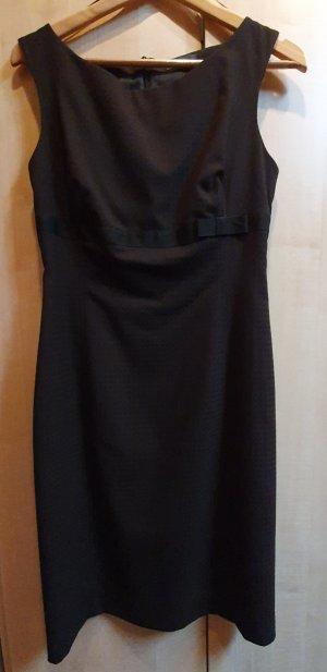Jake*s Vestido strapless negro-marrón oscuro