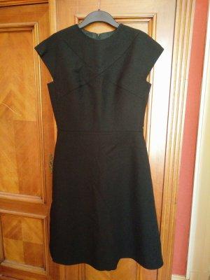Robe de cocktail noir tissu mixte